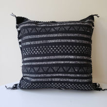 Load image into Gallery viewer, Black Sabra Silk Pillow