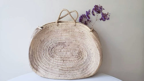 Oval Straw Basket