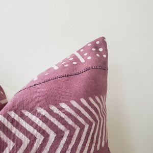 Plum Block Printed Pillow