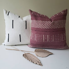 Load image into Gallery viewer, Plum Block Printed Pillow