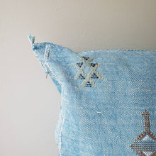 Load image into Gallery viewer, Turquoise Heaven Sabra Silk Pillow