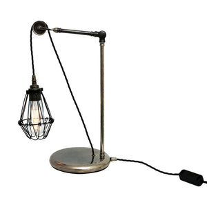 Apoch Pulley Cage Table Lamp - Table Lamps from RETROLIGHT. Made by Mullan Lighting.