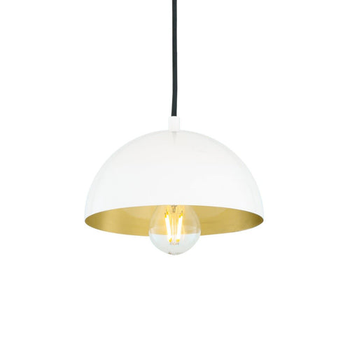 Avon Brass Dome Pendant 20cm - Pendant Lights from RETROLIGHT. Made by Mullan Lighting.