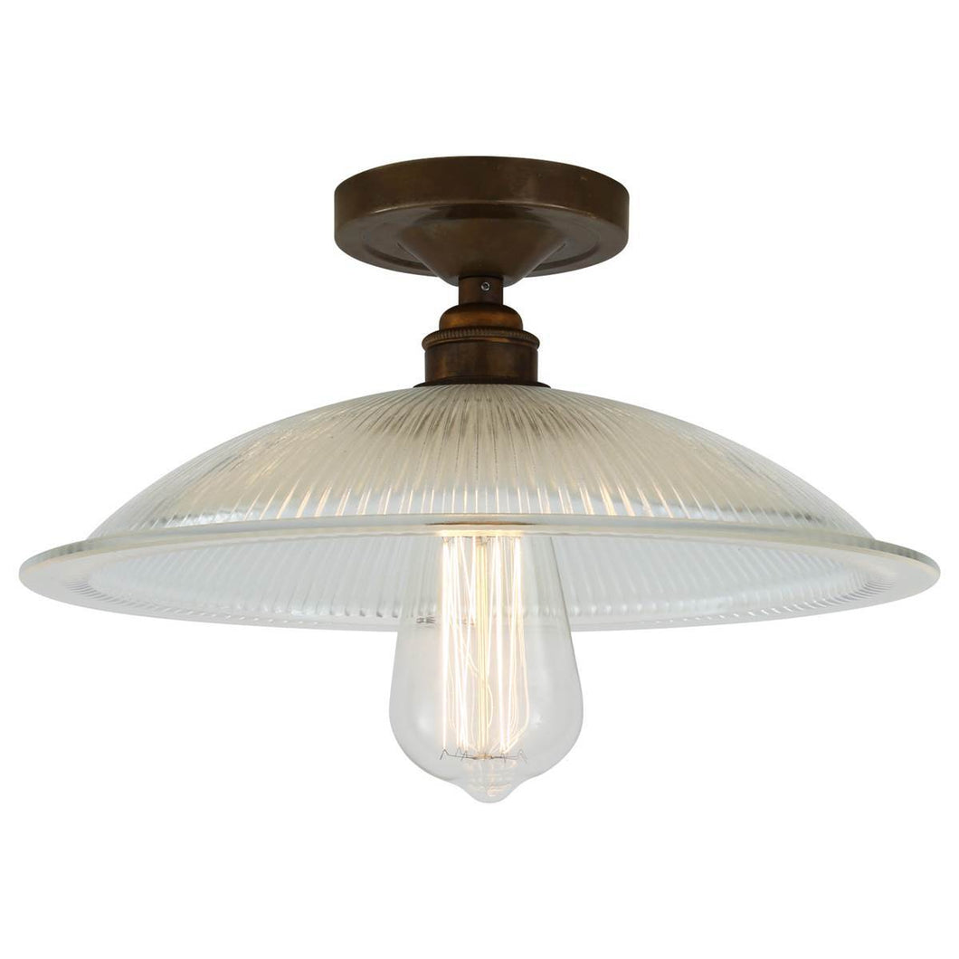 Calix Holophane Flush Ceiling Light - Ceiling Lights from RETROLIGHT. Made by Mullan Lighting.