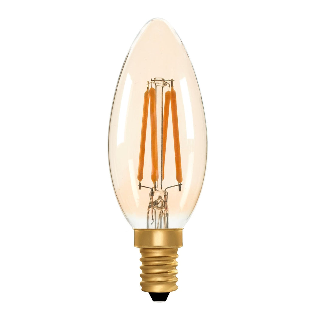 Candle C35 Amber 4W E14 2200K - LED Lamp from RETROLIGHT. Made by Zico Lighting.