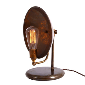 Cullen Industrial Dish Table Lamp - Table Lamps from RETROLIGHT. Made by Mullan Lighting.