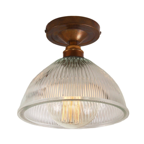 Erbil Prismatic Flush Ceiling Light - Ceiling Lights from RETROLIGHT. Made by Mullan Lighting.