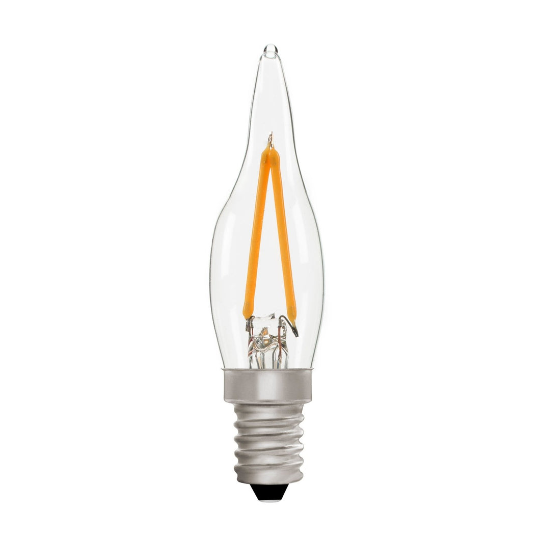 French Candle C22 Clear 2W E14 2700K - LED Lamp from RETROLIGHT. Made by Zico Lighting.