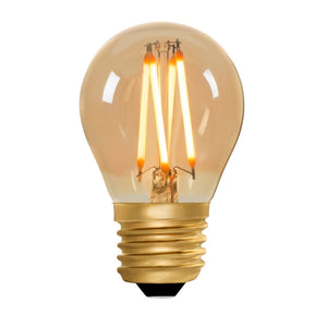 Golfball G45 Amber 4W E27 2200K - LED Lamp from RETROLIGHT. Made by Zico Lighting.