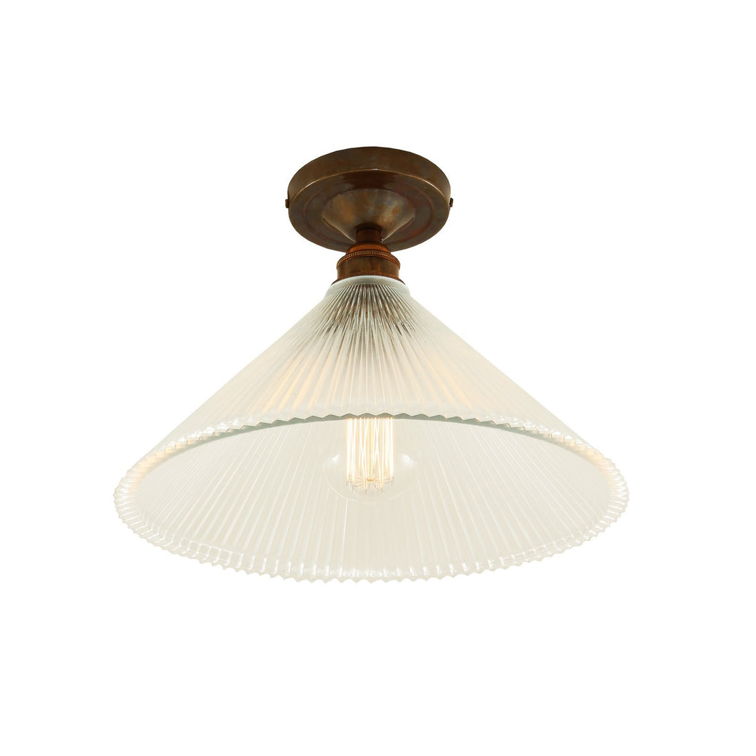 Hanoi Vintage Flush Ceiling Light - Ceiling Lights from RETROLIGHT. Made by Mullan Lighting.