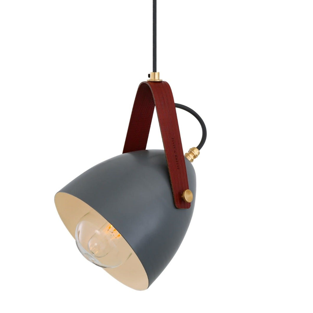 Lambeth Pendant with Rescued Fire-Hose Strap IP65 - Pendant Lights from RETROLIGHT. Made by Mullan Lighting.