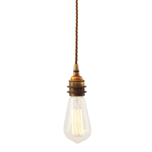 Lome Vintage Braided Pendant Light - Pendant Lights from RETROLIGHT. Made by Mullan Lighting.