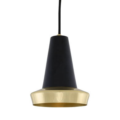 Malabo Polished Brass & Matte Black Pendant - Pendant Lights from RETROLIGHT. Made by Mullan Lighting.