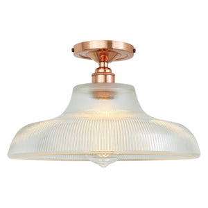 Mono Industrial Railway Flush Ceiling Light 30cm - Ceiling Lights from RETROLIGHT. Made by Mullan Lighting.
