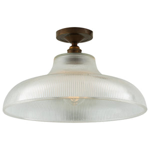 Mono Industrial Railway Flush Ceiling Light 40cm - Ceiling Lights from RETROLIGHT. Made by Mullan Lighting.