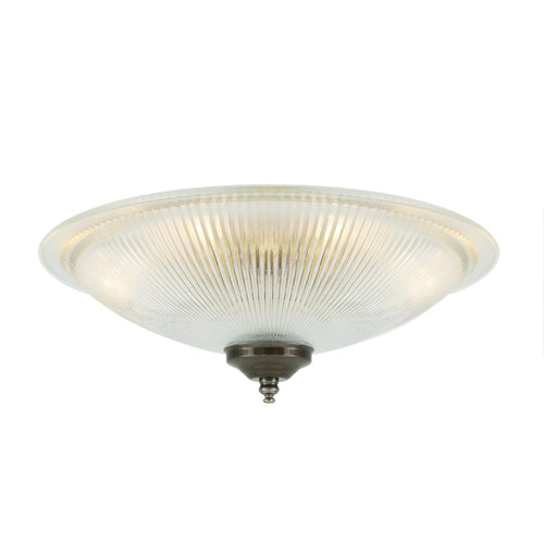 Nicosa Shallow Holophane Ceiling Light - Ceiling Lights from RETROLIGHT. Made by Mullan Lighting.