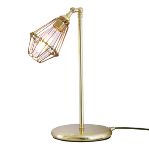 Praia Cage Industrial Table Lamp - Table Lamps from RETROLIGHT. Made by Mullan Lighting.