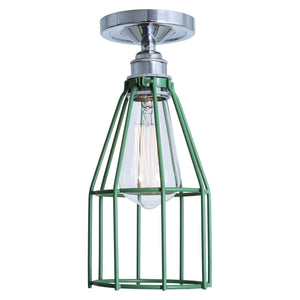 Raze Flush Cage Ceiling Light - Ceiling Lights from RETROLIGHT. Made by Mullan Lighting.