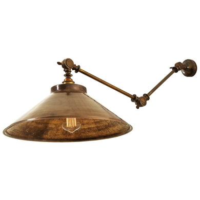 Rio Adjustable Industrial Wall Light - Wall Lights from RETROLIGHT. Made by Mullan Lighting.