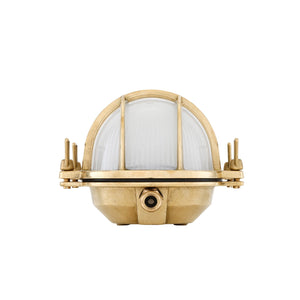 Ross Bulkhead Emergency Wall Light IP65 - Wall Lights from RETROLIGHT. Made by Mullan Lighting.