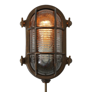 Ruben Small Oval Marine Light IP64 - Wall Lights from RETROLIGHT. Made by Mullan Lighting.