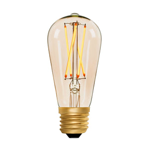 Squirrel Cage ST64 Amber 4W E27 2200K - LED Lamp from RETROLIGHT. Made by Zico Lighting.