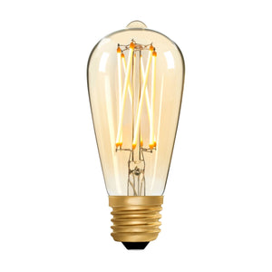 Squirrel Cage ST64 Amber 6W E27 2200K - LED Lamp from RETROLIGHT. Made by Zico Lighting.
