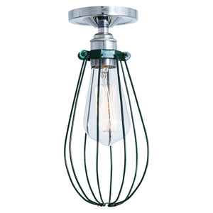Vox Flush Cage Ceiling Light - Ceiling Lights from RETROLIGHT. Made by Mullan Lighting.