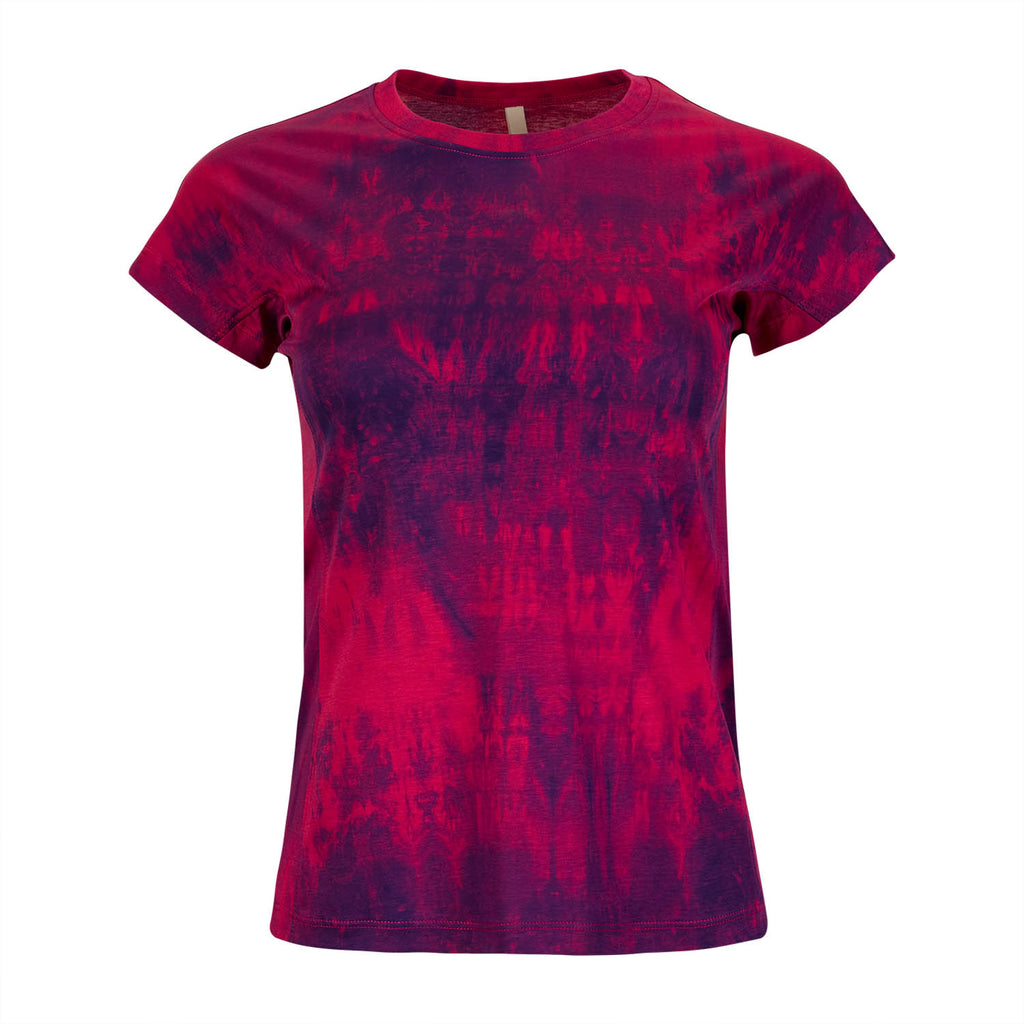 Ladies T-shirt - Purple and Pink Tie-dye