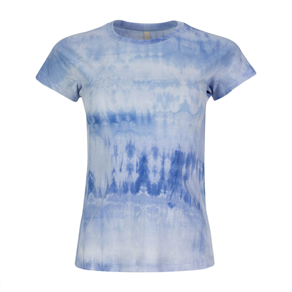 Mrs Tie-dye Blue and White T-shirt