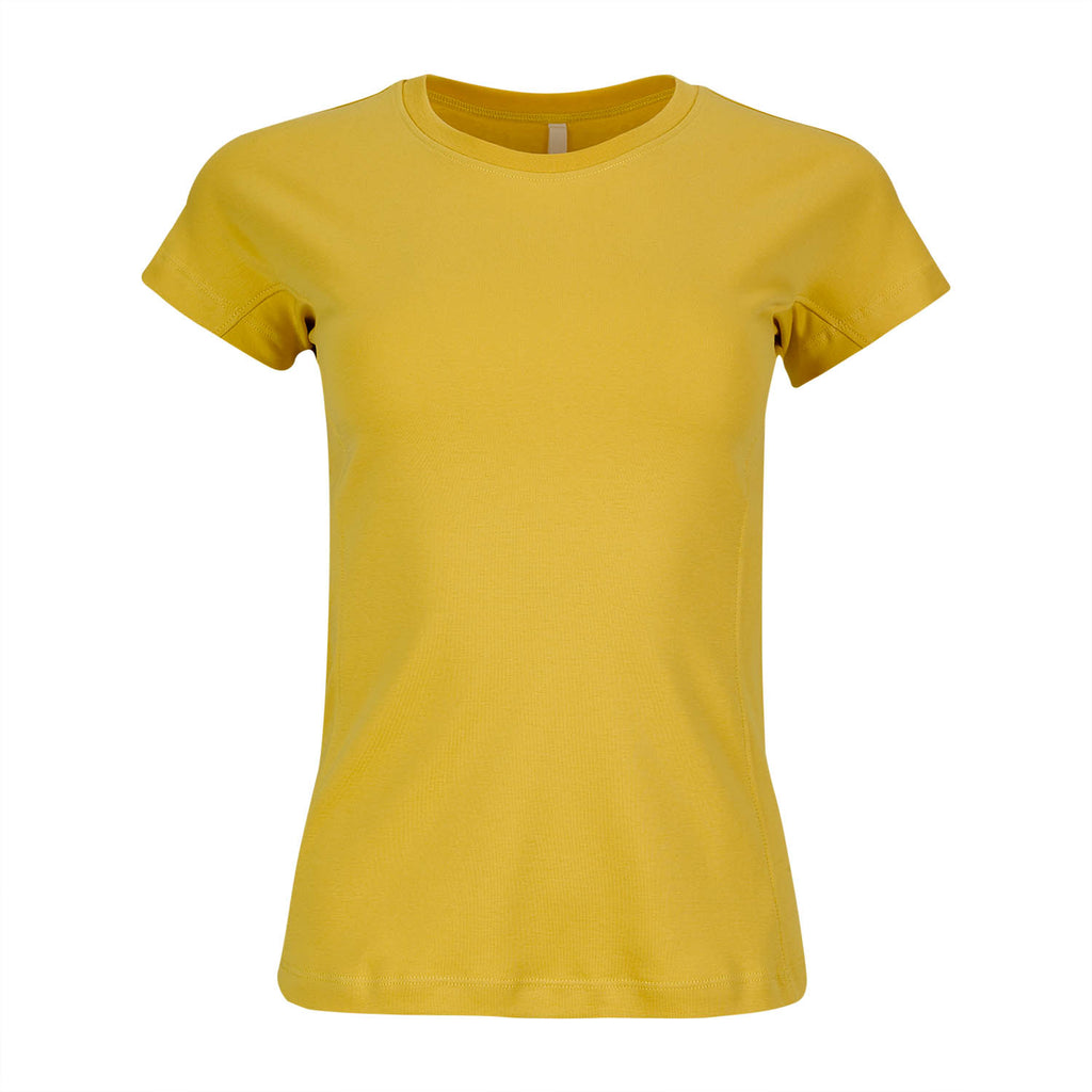 Ladies T-shirt - Mustard Yellow