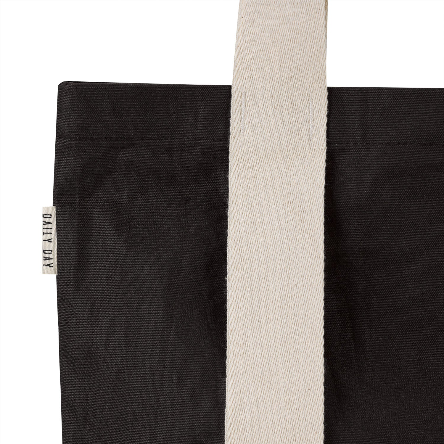Waxed Cotton Tote Bag - Dark Brown