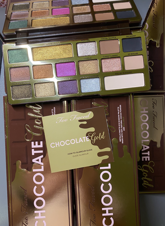 Too Faced Chocolate Gold Eyeshadow Palette x 100