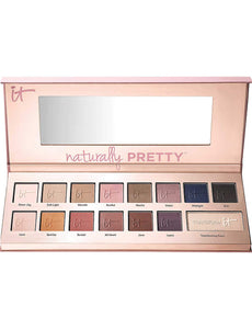 iT Cosmetics Naturally Pretty Matte Luxe Transforming Eyeshadow Palette 14 Shades Plus Transforming Pearl x 144