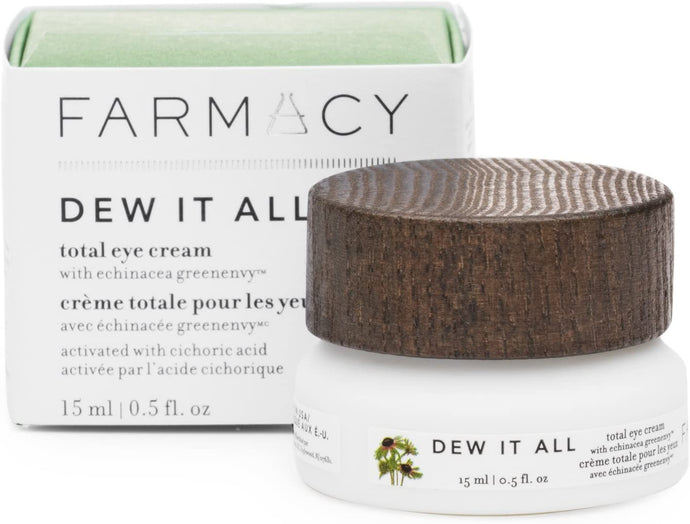 Farmacy Dew It All Total Eye Cream - Moisturizing Natural Under Eye Cream for Lines & Wrinkles