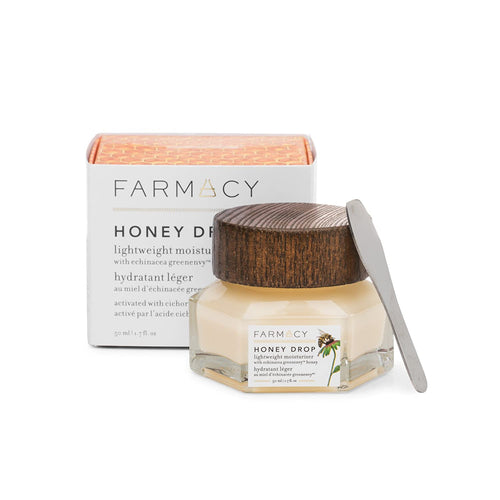 Farmacy Honey Drop Lightweight Moisturizing Cream - Natural Hydrating Face Moisturizer