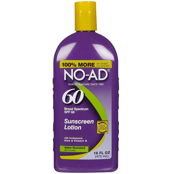 NO-AD Sunscreen Lotion SPF 60-16oz (Pack of 2) x 120