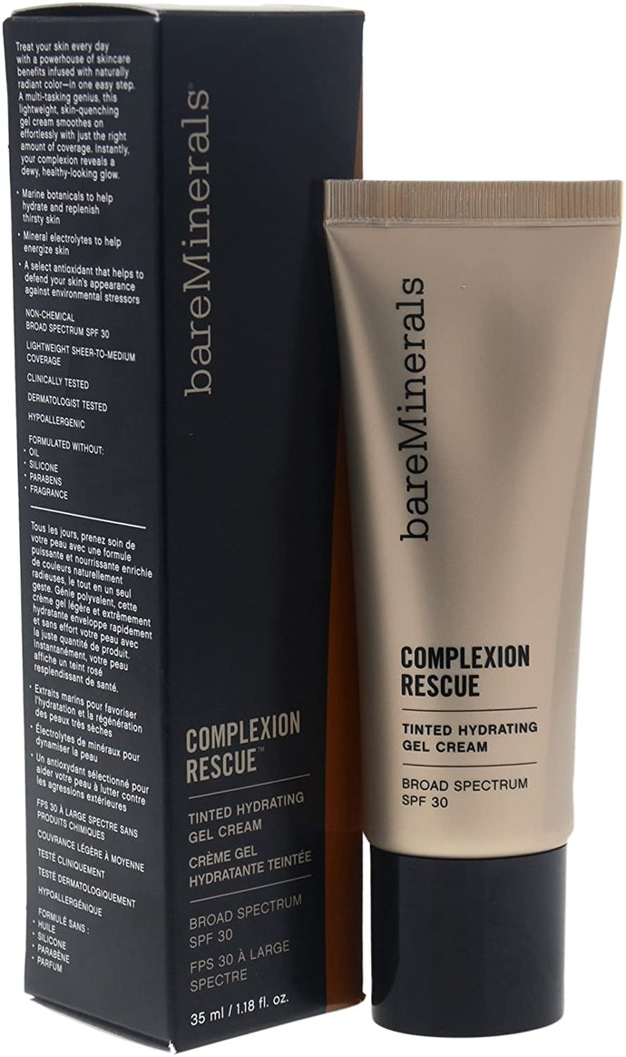 bareMinerals Complexion Rescue Tinted Hydrating Gel Cream SPF 30, Opal 01, 1.18 Fl Oz