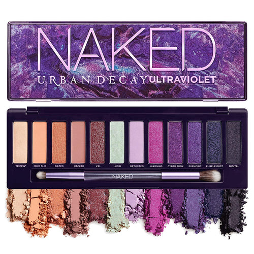 Urban Decay Naked Ultraviolet Eyeshadow Palette, 12 Vivid Neutral Shades with Purple Pop