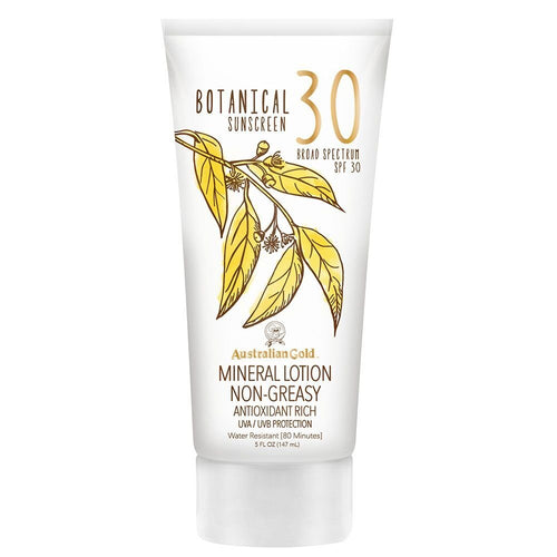 Australian Gold Botanical Sunscreen Mineral Lotion, SPF 30, 5 Ounce | Broad Spectrum | Water Resistant x 200