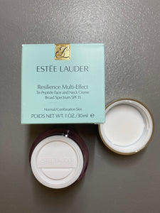Estee Lauder Resilience Multi-Effect Tri-Peptide Face and Neck Creme SPF 15 For Normal/Combination Skin,1 oz x 37