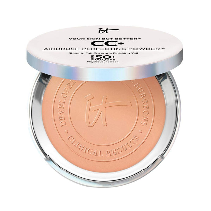 It Coswmtics Your Skin But Better CC+ Airbrush Perfecting Powder SPF 50+ Tan x 100