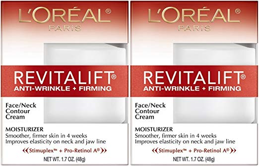 L'Oreal Paris RevitaLift Anti-Wrinkle + Firming Face & Neck Contour Cream, 1.7 Fluid Ounce (Pack of 2) x 96
