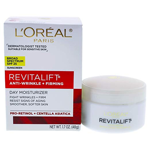 Loreal Paris Revitalift Anti-Wrinkle + Firming Day Cream SPF 25 Sunscreen, 1.7 oz. x 96