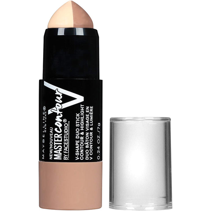 Maybelline Makeup Facestudio Master Contour V-Shape Duo Stick, Light Shade Contour Stick, 0.24 oz x 144