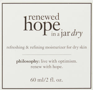 Philosophy Renewed Hope in a Jar Refreshing and Refining Moisturizer for Dry Skin, 2 Oz