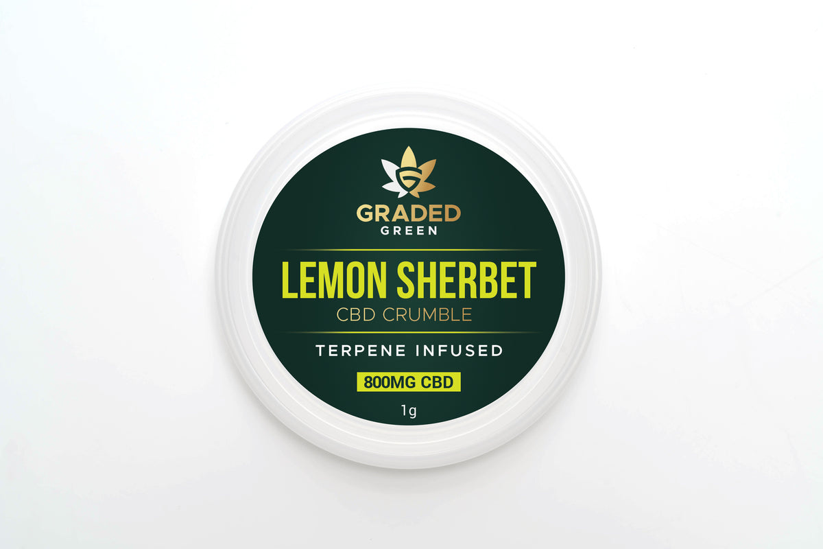 Lemon Sherbet Broad Spectrum CBD Crumble 800mg