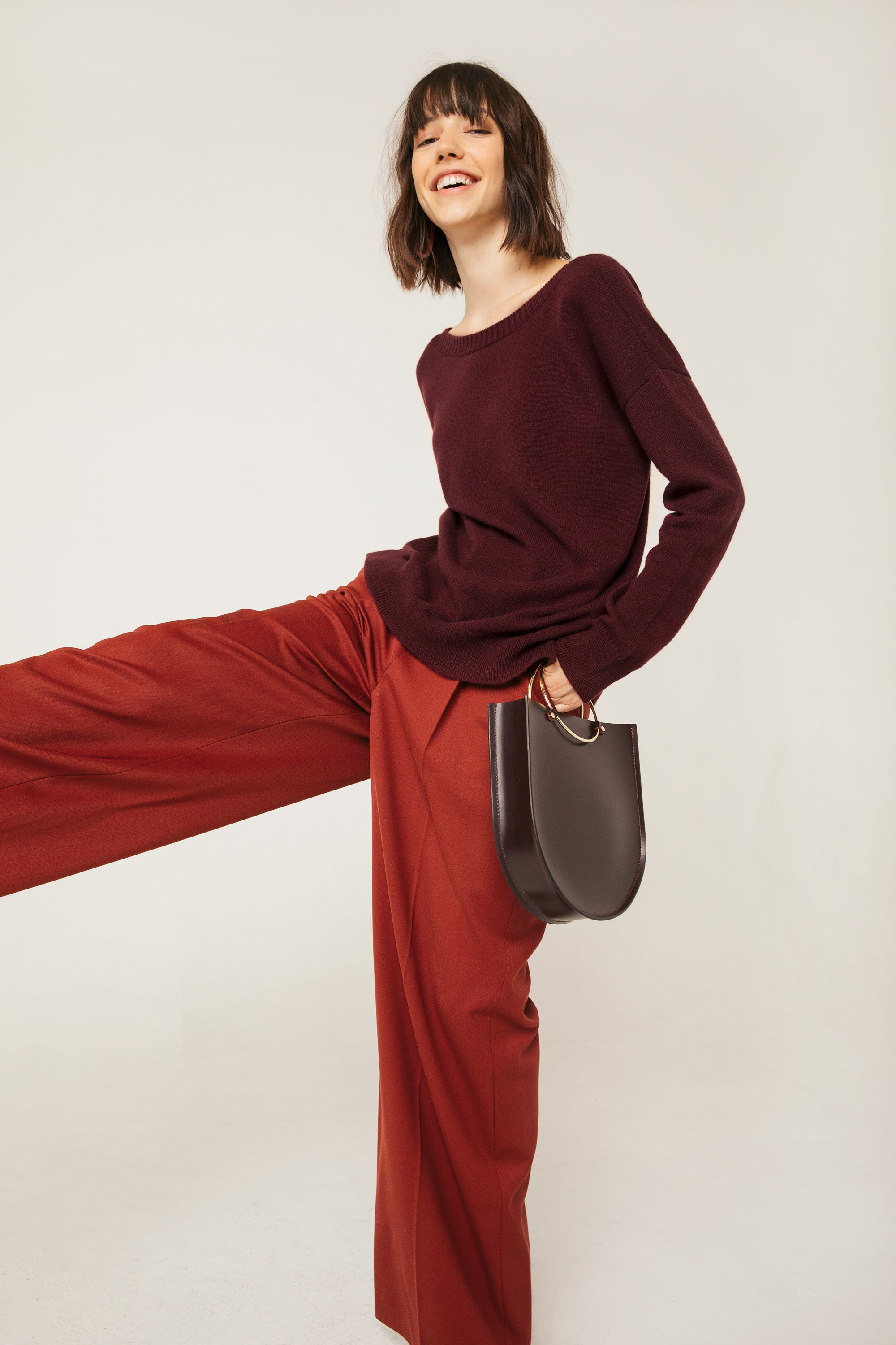 Frances Austen / Future Glory Rockwell Midi in Merlot