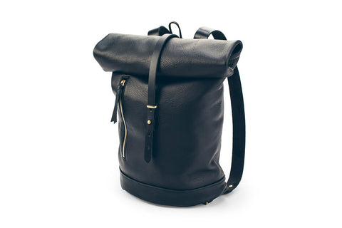 c9d6beec0219 Moto Rolltop Backpack in Noir   Future Glory Co.