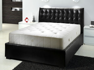 Cube Leather Ottoman Storage Bed